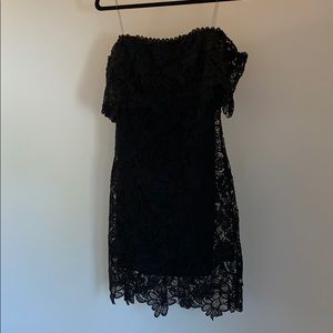 Just Me - Embroidered Floral Crochet Lace Dress